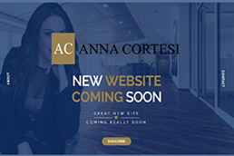 Idilio Studio - Works, Portfolio, Landing Pages, Anna Cortesi - Coming Soon