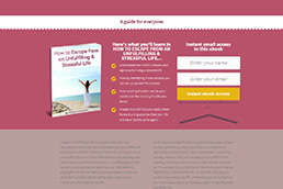 Idilio Studio - Works, Portfolio, Landing Pages, The Life You Desire E-Book