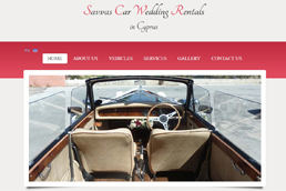Idilio Studio - Works, Portfolio, Websites, Savvas Car Wedding Cyprus