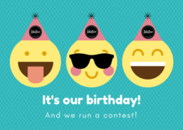 Idilio Studio - Birtday and Contest for July 2018, Website Design